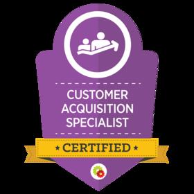 D4 Digital customer acquisition badge